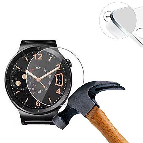 Lusee 3 Stück Universal Schutzfolie für Smart Watch/Smartwatch Durchmesser 36mm [9H Härte] Displayschutzfolie HD Schutzfolie [Anti Kratzer] [Anti Fingerabdruck] 2.5D Panzerfolie