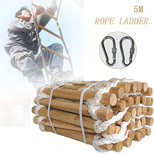 GBHJJ Touw Ladders, Fire Ladders voor Tweede Verhaal Vensters, Emergency Fire Escape Ladder, Hoge Veiligheid, Ideaal voor Windows en Balkons, met Haken 3M-5M 5 m.