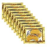 Jakuva 30 Pairs Collagen Gold Eye Masks Powder Crystal Gel Eye Masks For Anti Aging, Remove Bags, Anti Wrinkles, Moisturizing & Hydrating, Under Eye Patches, Gold
