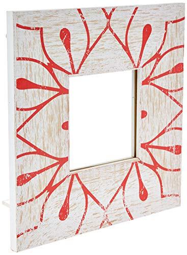 Espelho Com Moldura Mod 02 Coral Decorglass Multicolor