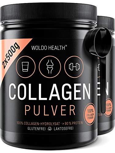 Collagen Pulver aus Weidehaltung Hydrolysat Protein 2x 500g - wasserlöslich geschmacksneutral inkl. Messlöffel