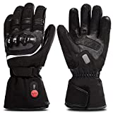 SAVIOR HEAT Motorcycle Gloves for Men and Women, Rechargeable Battery Heated Gloves for Cycling Skiing