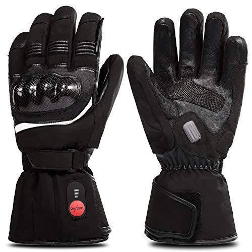Gloves for Men Women, Electric Betteries Heated Gloves for Cycling Motorcycle Skiing