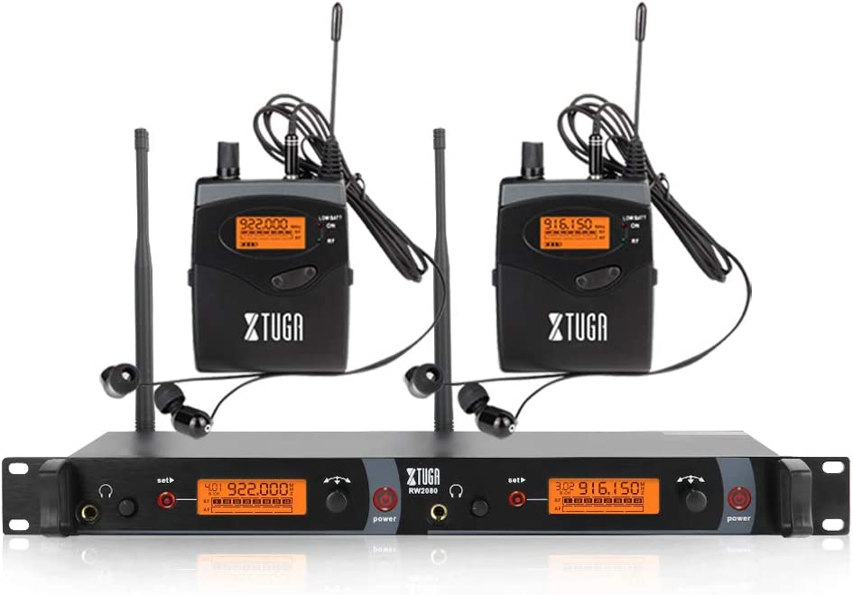 XTUGA RW2080 New Orleans Mall Whole Metal Wireless in Monitor System Channe 2 Ear trust