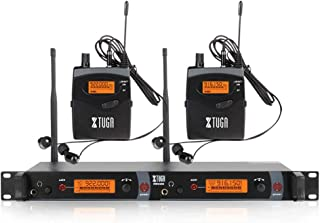 $229 » XTUGA RW2080 Whole Metal Wireless in Ear Monitor System 2 Channel 2/4/6/8 Bodypacks Monitoring with in Earphone Wireless Type Used for Stage or Studio Frequency902-928mhz (2 bodypack with Transmitter)