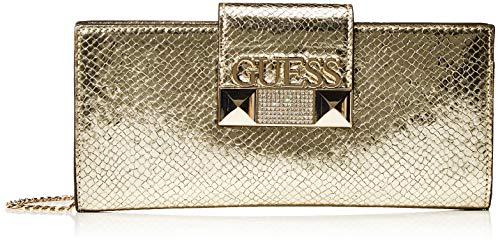 Guess Jazzie, Borsa a mano Donna, Oro (Gold), 4.5x12x26 cm (W x H x L)