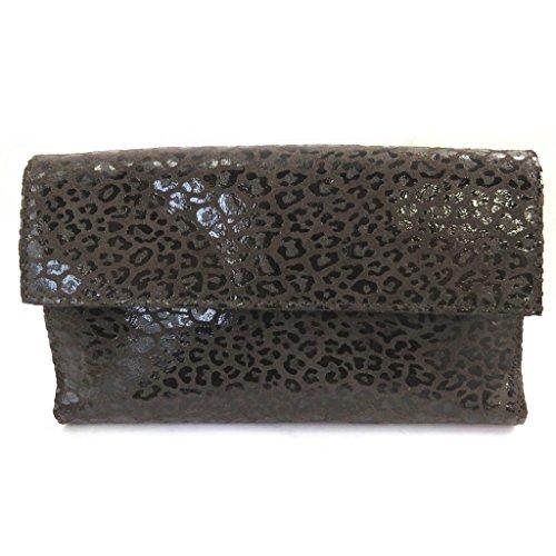 Compagno di pelle 'Frandi'marrone scuro (leopard).