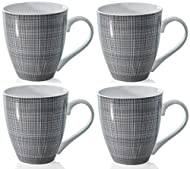 Set of 4 Mugs. Brought to you by Sabichi, leaders in homeware style and class Very Large Large Conical Shape. 568ml Capacity Perfect for the morning Large Coffee, at home or at work, or for your hot soup Dishwasher Safe, Microwave Safe Lovely Tartan ...