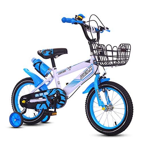 BMXzz 12/14/16/18 Pulgadas Bicicleta Infantil Estudio Aprendizaje Montar a Caballo Bicicleta niños...