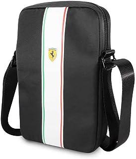 CG Mobile Ferrari Tablet Bag 10  Pista Nylon Metal Logo Backpack Black