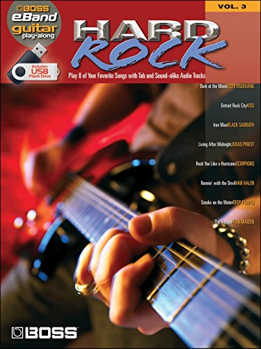 Boss eBand Guitar Play-Along Volume 3: Hard Rock. Partitions, Audio Digitale pour Guitare, Tablature Guitare