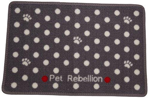 Pet Rebellion Dotty Food Mat, Grey