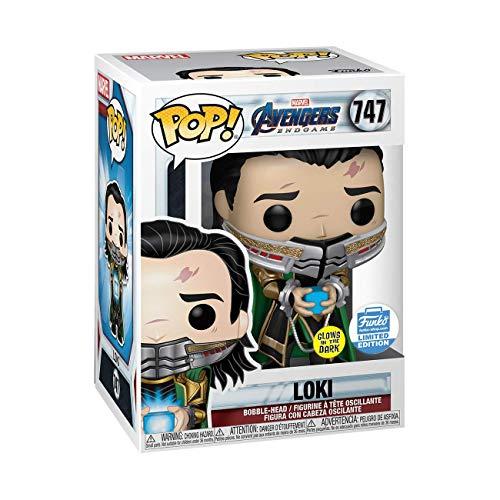 Funko Pop Loki 747 Marvel Avengers Endgame Glow in The Dark Limited Edition Figure