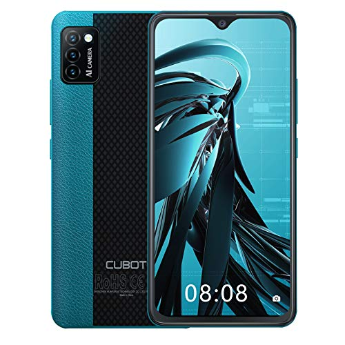 CUBOT Note 7 Smartphone ohne Vertrag, 4G Handy, 5.5 Zoll HD Display, Android 10, 3100mAh Akku, 3 Kameras, 2GB/16GB, 128GB erweitbar, Dual SIM, Face ID, Grün