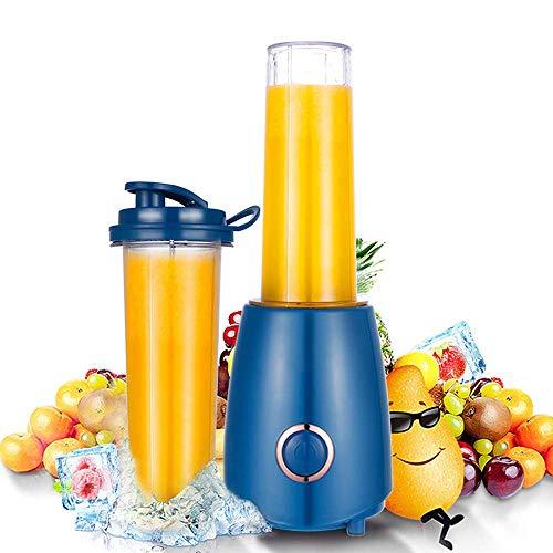Qinmo Exprimidor machinesMini Exprimidor eléctrico, 300W pequeña escala portable de jugo de frutas nacionales Procesador Extractor Licuadora Smoothie de alta velocidad licuadora o batidos y batidos, a