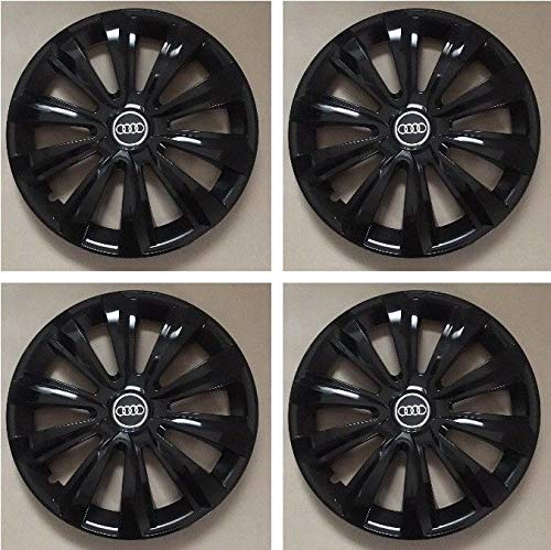 Unit.ec 4X Radkappen 15 Zoll in schwarz für Audi inkl Embleme
