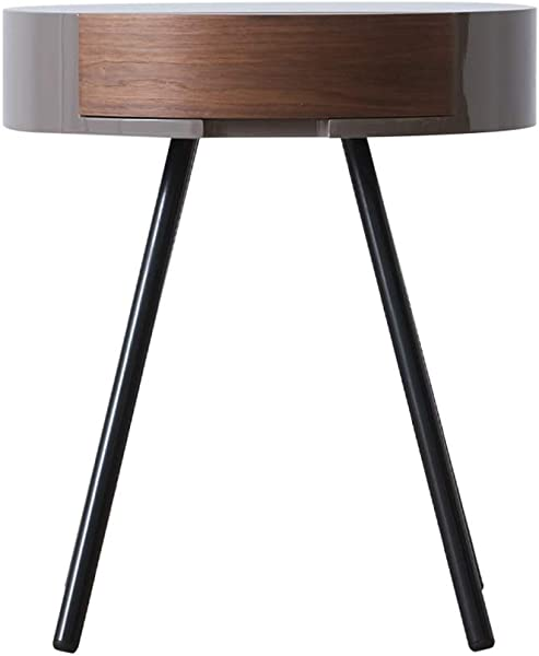 ZDNALS Bedside Table 1 Tier Side Table With Storage Shelf Sturdy Easy Assembly Wood Look Accent Furniture With Metal Fram