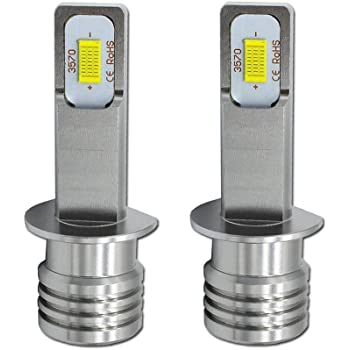 NOVSIGHT H1 LEDフォグランプ 22W 1800LM 6000K-6500K DC12-24V 360°発光 コンパクト設計 防水 1年保証 (ホウイト 2個入り)