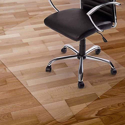 YINN - Alfombra transparente para silla, protector de suelo de PVC esmerilado, antiarañazos y antideslizante, alfombra para muebles