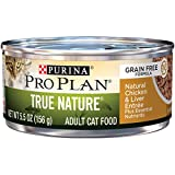 Purina Pro Plan Natural, Grain Free Pate Wet Cat Food, TRUE NATURE Natural Chicken & Liver Entree - (24) 5.5 oz. Cans