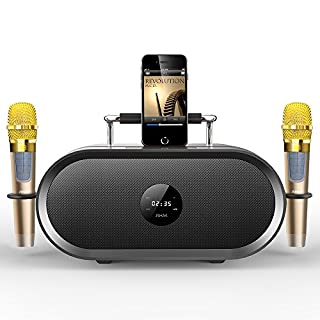 RHM Karaoke Machine for Kids&Adult,2 Wireless Microphones,Rechargeable Battery Speaker,Portable PA Speaker System with Bluetooth/AUX/USB/SD for Home,Party,Wedding,Picnic Outdoors&Indoors Activities (B0775NSLC2) | Amazon price tracker / tracking, Amazon price history charts, Amazon price watches, Amazon price drop alerts