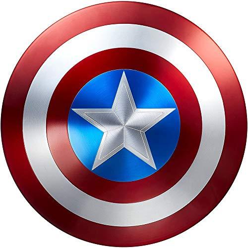 Xinyuwz Scudo Avengers Marvel di Captain America, Metal Shield Advanced Copia 1: 1, Legends Series 24 '' / Pure Metal Puntelli di Movie 75th Anniversary Collector's Edition