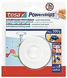 tesa Powerstrips Deckenhaken - Selbstklebender, drehbarer Haken in Weiß zum Aufhängen von Decken-Dekoration - Mit tesa Powerstrips Large - Bis zu 500 g Halteleistung