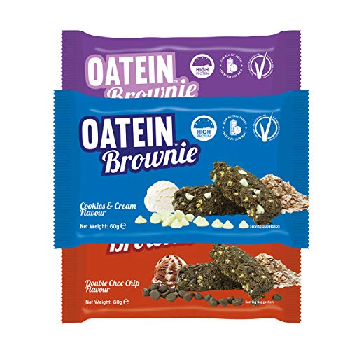 Oatein High Protein, Healthy Brownies Taster Box (30 x 60g) -Variety