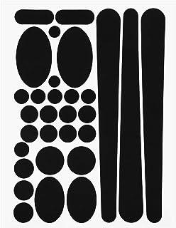Onior プレミアム品質シンプルフレームチェーンステイプロテクターバイクステッカー、ブラック