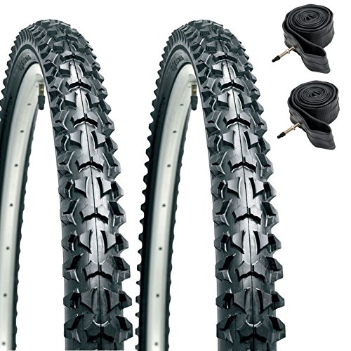 CST Eiger 26' x 1.95 Mountain Bike Tyres with Presta Tubes (Pair)