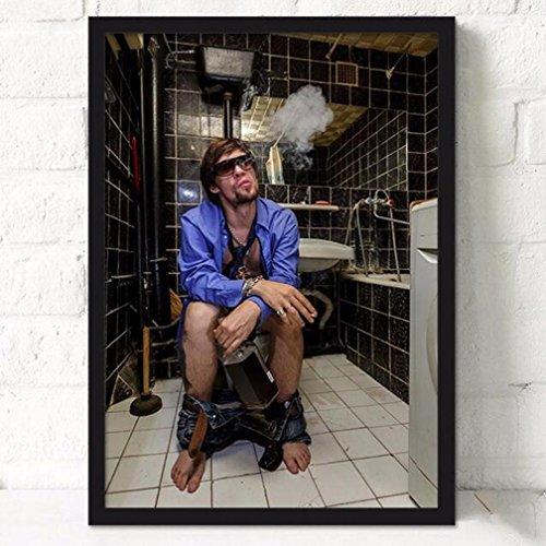 MINRAN DECOR BL Stampe su Tela Dipinti ad Olio Moderna della Parete di Arte su Tela paesaggi dalla Mano della Decorazione/Pittura del Bagno della personalità del Bagno XS002, 6, 21x30cm