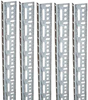 Slotted Angle Kit, 12 ft. L, 5, Steel, PK5