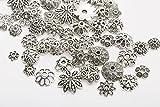I LOVE DIY Argent Antique Tibétain coupelle Fleur Vieilli Spacer Perles (#11-150pcs)