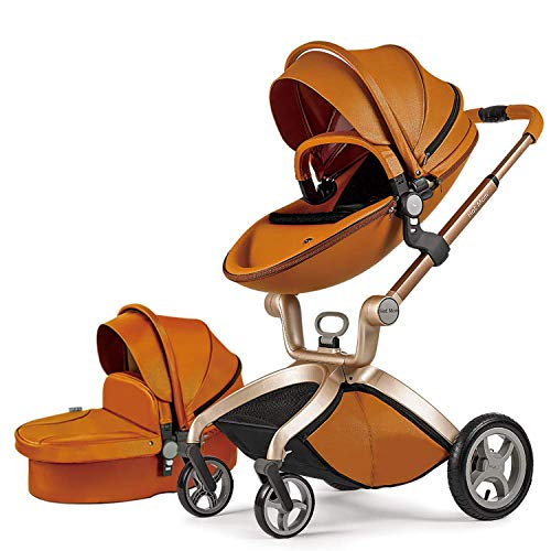 %5 OFF! Baby Stroller in 2020,Hot Mom Baby Carriage with Adjustable Seat Height Angle and Four-Wheel...