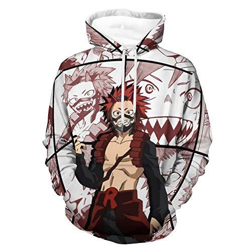 Kirishima Eijiro Collage My Hero Academia Anime Hoodie Pullovers Full Printing Cosplay Women Men Sweatshirt Tops White-style1 XL