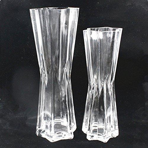 ZHFC-flacon de verre de feuilles de bambou hydroponiques de bambou vase décoration transparence nouvelle décoration,six star hauteur 25cm calibre 8