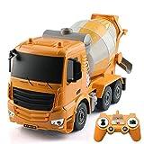 AIOJY 360 ° Rotación de luz y de Sonido, Mezclador de Cemento, Dumper, Camiones de Basura, Crane, for los niños de Educación 1:26 Control Remoto Ingeniería vehículos de la construcción