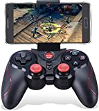 Maegoo Wireless Controller PC PS3, 2.4GHz Bluetooth Wireless Android Game Controller Gamepad Joystick per Android Smartphone PC Windows PS3 Smart TV con Supporto