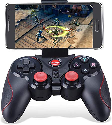 Maegoo Controller PC Wireless, 2.4GHz Bluetooth Wireless Android Game Controller Gamepad Joystick per Android Smartphone PC Windows PS3 Smart TV con Supporto