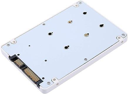 Mini HDD 効率的で高速 ミニ 2.5インチ MSATA SSD - 22 ピン SATA SSD アダプターボックス 外付けHDD モバイルボックス ホワイト Liobaba