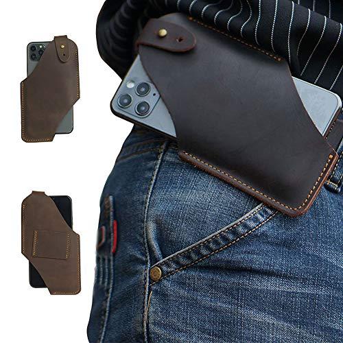 スマホケーススマホポーチ メンズベルトポーチ ウエストポーチ 本革 携帯電話ケース 横型 対応機種を選択してください iPhone SE/6/7/8 plus/X, Galaxy S8/S8