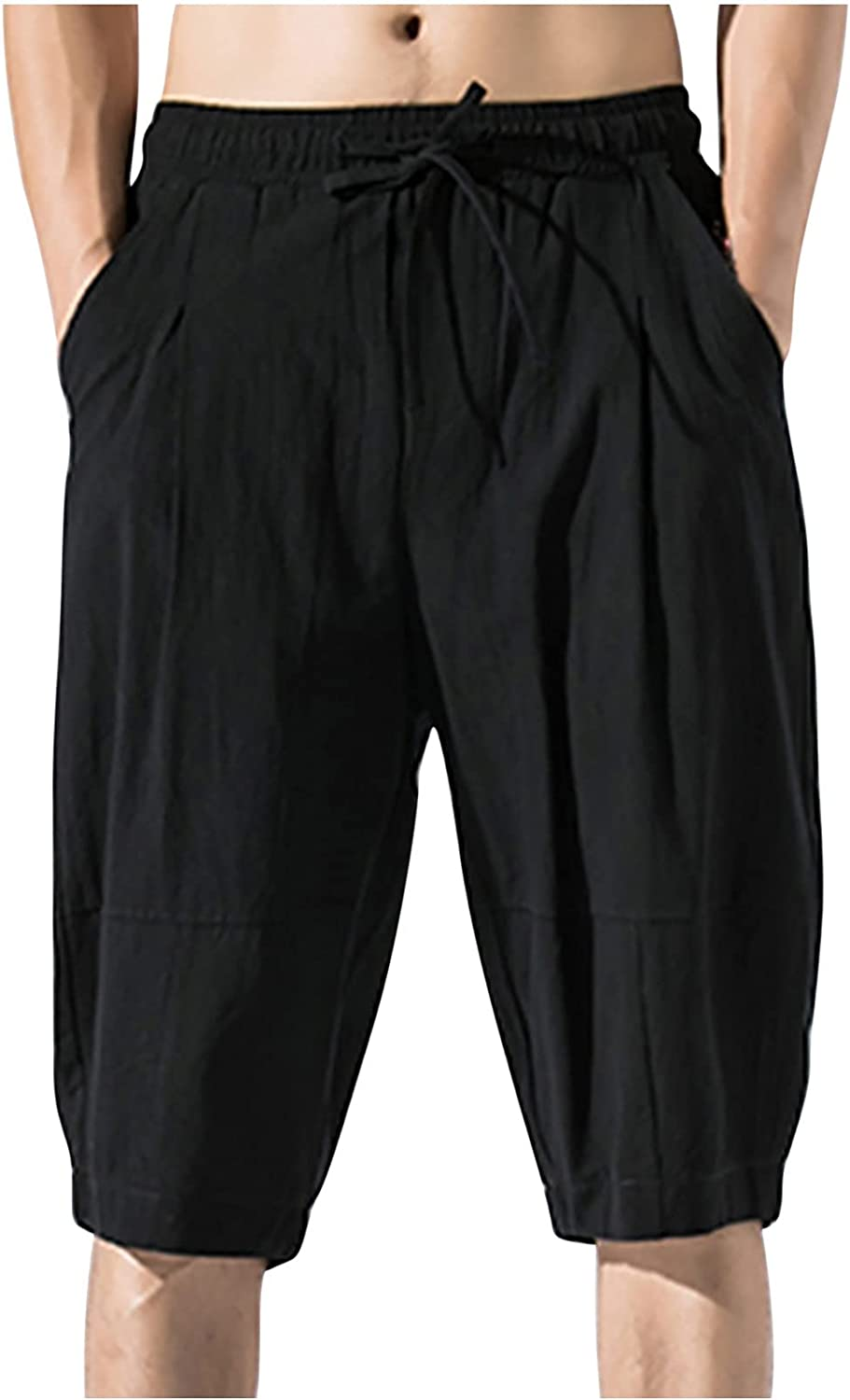 5'' Men's Linen Max 58% OFF Cotton Today's only Casual Classic Jogger PantsCasual Shorts