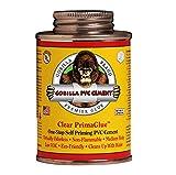 Gorilla PVC Cement 16 oz. R1585C Medium Body PrimaGlue, One-Step, Self-Priming, Non-Toxic Odorless,...