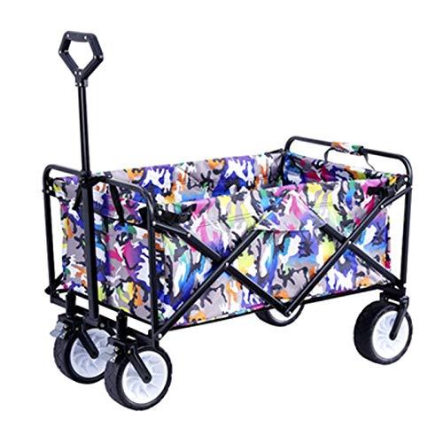 Carritos de la Compra Carro Pesca Handcart con Freno Gran Capacidad Trolley portátil Plegable ángulo de Mango y Altura Ajustable Bolsas y cestas de la Compra (Color : B, Size : 91 * 50 * 37CM)