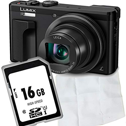 Panasonic LUMIX DMC-TZ81EG-K Travellerzoom - Cámara (18,1 Mpx, Objetivo Leica con Zoom óptico de 30x, Foto y vídeo 4K, Visor, Pantalla táctil LCD de 3 Pulgadas), Color Negro