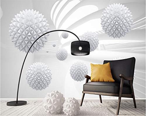 Feste kugelförmige geometrische Tapete des Raumwandhintergrundes 3d der modernen minimalistic Tapete
