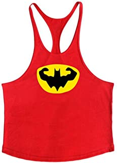 Premium Above Superhero Workout Fitness Sleeveless Mens Batman Stringer Gym Tank Tops Workout