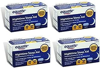 Equate - Nighttime Sleep Aid 25 mg, 100 Mini-Caplets (Pack of 4)