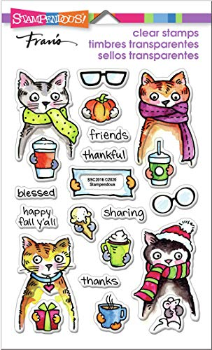 STAMPENDOUS Clear Stamps STAMPND THNK Kitty