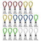 YGHH 20 Pezzi Clip per Appendere Cucina, Clip per Asciugamani, Clips Strofinacci, Clip per Appendere Il Panno, Metallo Cucina Multifunzionale Ganci per Canovacci per Telo Mare, Vestiti (5 Colori)